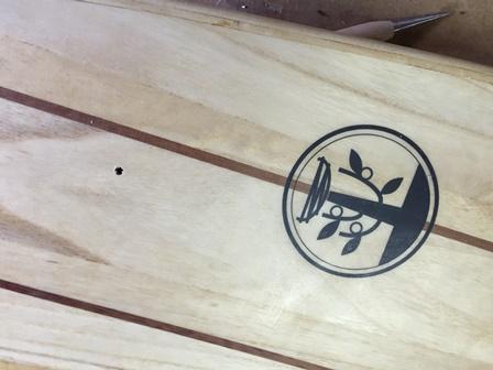 エアー抜き サーフボード 木製